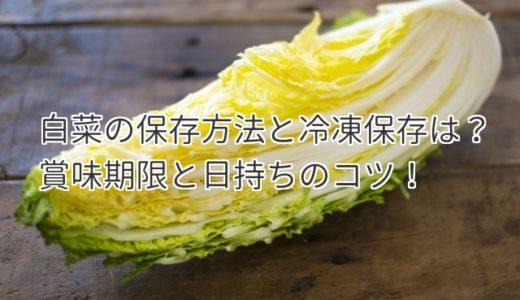 白菜の保存方法と冷凍保存の方法は?賞味期限と日持ちのコツを紹介!