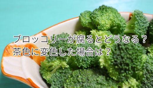 ブロッコリー腐ると茶色に変色する?日持ちはいつまで食べられる?