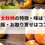太秋柿の特徴・味は?通販お取り寄せはココだ!甘くてシャキシャキ!