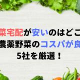 野菜宅配が安い5社はコレ!無農薬野菜のお試しセットでコスパ抜群!