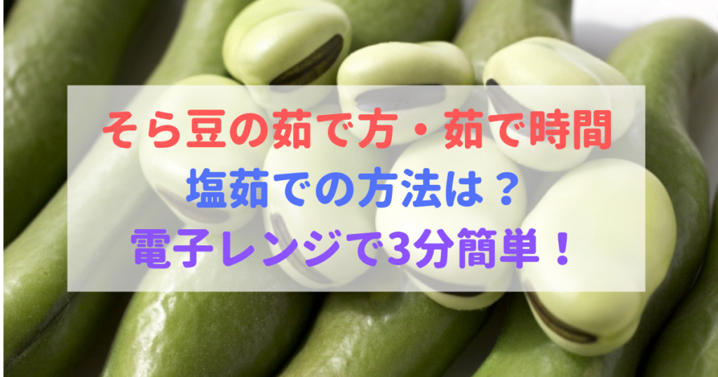 茹で か た 空豆 の
