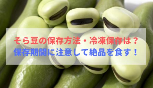 そら豆の保存方法・冷凍保存は必見!保存期間と絶品の食べ方!