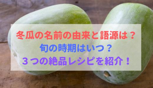 冬瓜の名前の由来・語源は?旬の季節・時期は?絶品レシピを紹介!